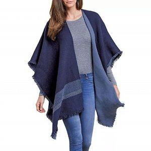 Woolrich Reversible Sweater Wrap Shrug